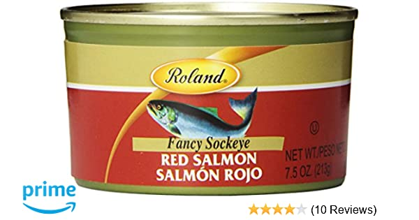Roland Fancy Sockeye Salmon, Red, 7.5 Ounce (Pack of 4): Amazon.com: Grocery & Gourmet Food