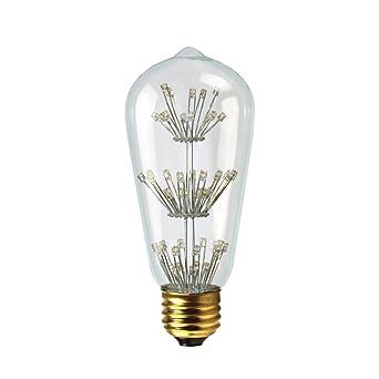 Dr.Lamp ST18 1.5W Vintage Led Edison Decorative Light Bulb,Hand Made