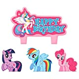"Party Time My Little Pony Friendship Molded Mini Character Birthday Candle Set, Pack of 4, Pink , 1.25"" Wax"