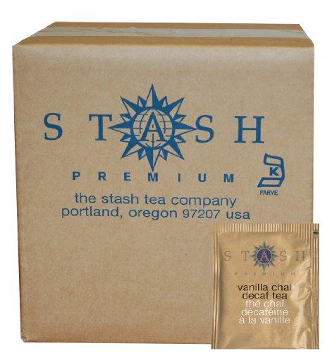 Stash Tea Decaf Vanilla Chai Black Tea, 100 Count Box of Tea Bags in Foil (packaging may vary) Vanilla Chai Black Tea