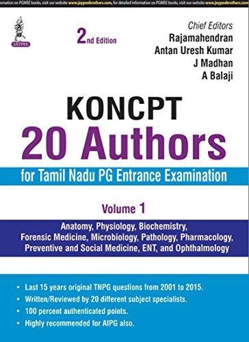 KONCPT:20 AUTHORS FOR TAMIL NADU PG ENTRANCE EXAMINATION (VOLUME-1) PDF