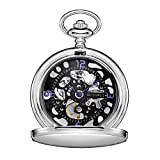 Steampunk Mechanical Pocket Watches for Men with Chain+Gift Box