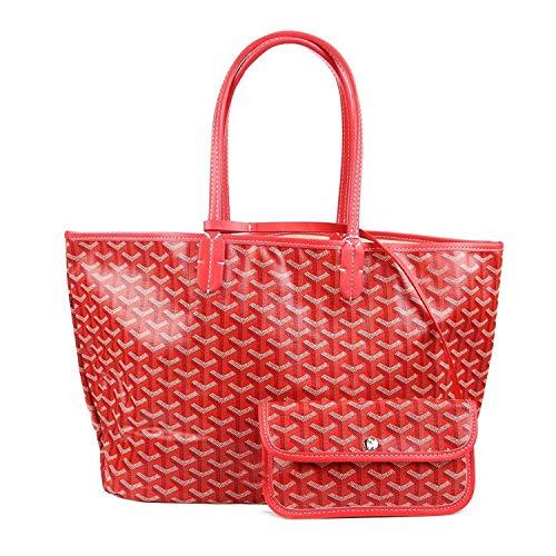 - Stylesty Fashion Shopping PU Tote Bag, Designer Shoulder Handbags with Key Ring (Medium, Red)