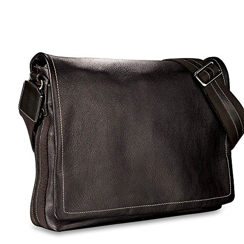Levenger Bomber Jacket Laptop Leather Messenger - Mocha by Levenger