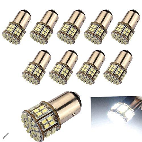 10-Pack Super Bright 1157 2057 2357 7528 BAY15D 50-SMD White LED Bulbs For Brake Lights Tail lights Turn - Light Bulbs Led Tail