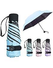 Mini Umbrella, NASUM Pocket Umbrella Folding Umbrella, Lightweight Compact Umbrella Folding Travel Umbrella Small Fold Double Layer Sunblock, UV Protection UPF 50+ Rain Resistant