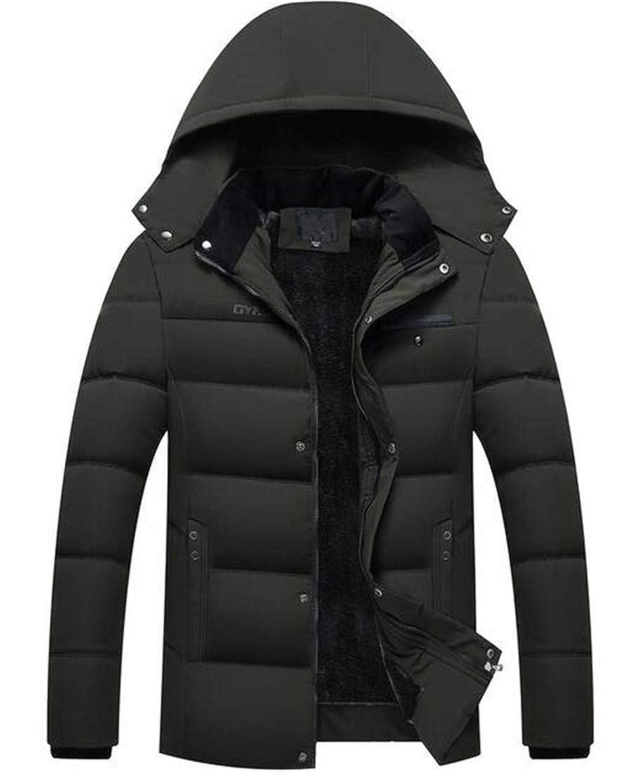 BYWX Men Wear to WorkFleece Winter Lightweight Packable Down Jacket Outwear Puffer Coats