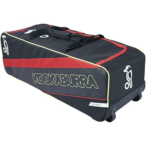 Kookaburra Cricket Kit Bag Wheelie Pro 2000 by (Black/Red) (Bag Wheelie Team)