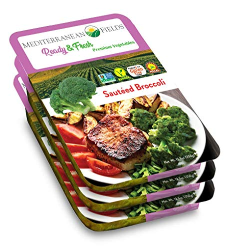 Ready Fresh Packaged Vegetables & Meals, Sauteed Broccoli - 3 Pack. All Natural, Vegan, Non GMO, Gluten Free Ready to Eat Meals.