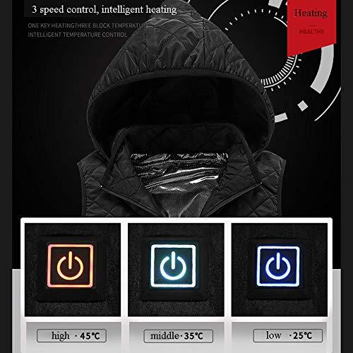 De Air Intelligent Blue Usb Aux Plein 2xl Sports Sans D'hiver Chargement 2xl Femmes Chauffage Gilet black Manches Adaptée Veste Pour Électrique qd4xgqZwC