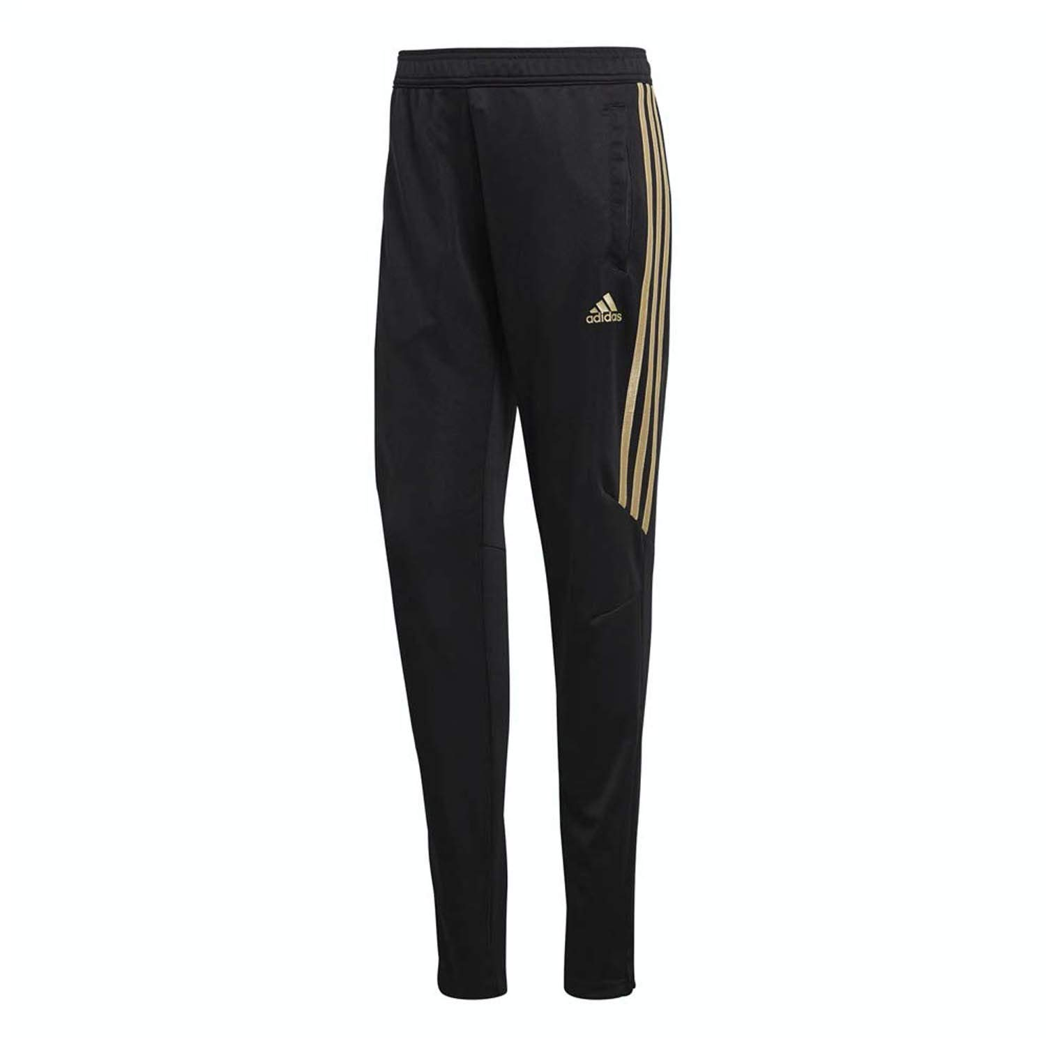 adidas Women's Tiro '17 Pants Black/Gold Metallic Large 32 by adidas