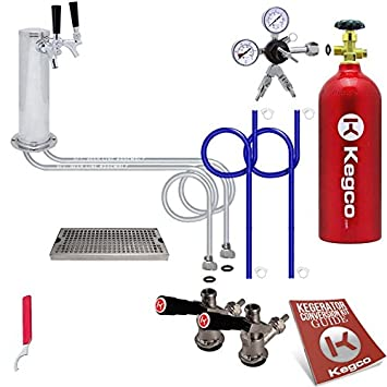dual tap deluxe kegerator conversion kit