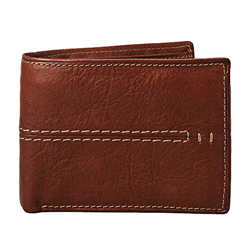 Relic by Fossil Men's Channel Traveler Wallet, Brown, One Size (Fossil Two Pocket Wallet)