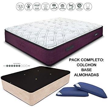 HABITMOBEL Pack Colchon Visco Muelles 32 cm, 190 x 105 cm + ...