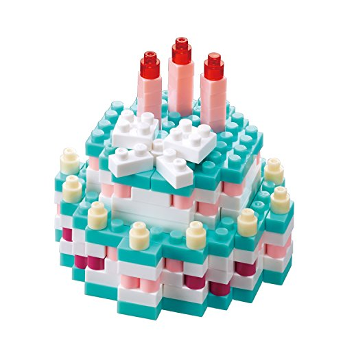 Nanoblock Birthday Cake Building Kit by Nanoblock