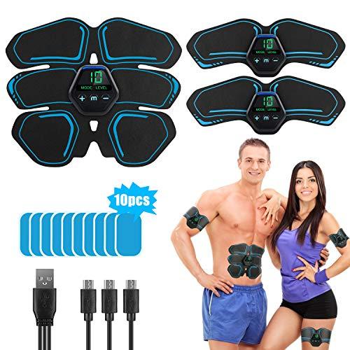 🥇 LONSUN Electroestimulador Muscular Abdominales EMS