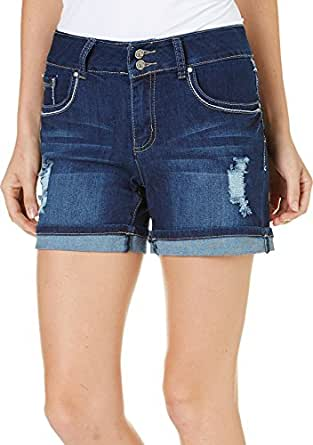 Earl Jean Women Ripped Shorts Esp075 (4) at Amazon Women's