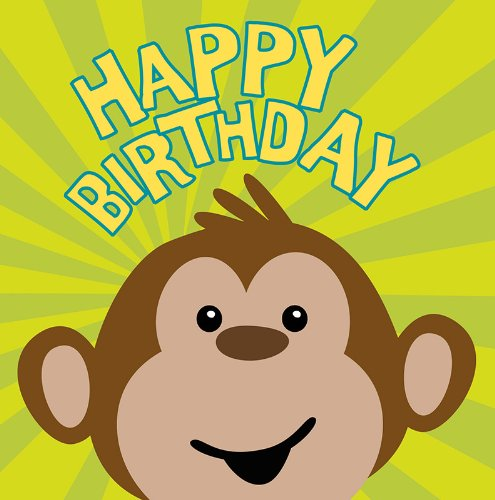 16-Count Paper Lunch Napkins, Monkeyin' Around Happy Birthday