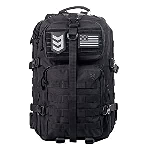 3V Gear Velox II Large Tactical Assault Backpack Rucksack, MOLLE Compatible for Military Gear, Outdoors, Hiking, Bug Out Backpack