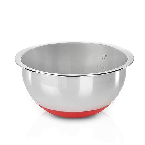 Kitchen N-Joy - Cuenco de Acero Inoxidable y Base de ...