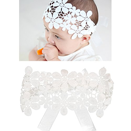 DANMY Baby Girl Super Stretchy Headband Big Lace Petals Flower Baby Hair Band Newborn Hair Accessories (Flower Petal)