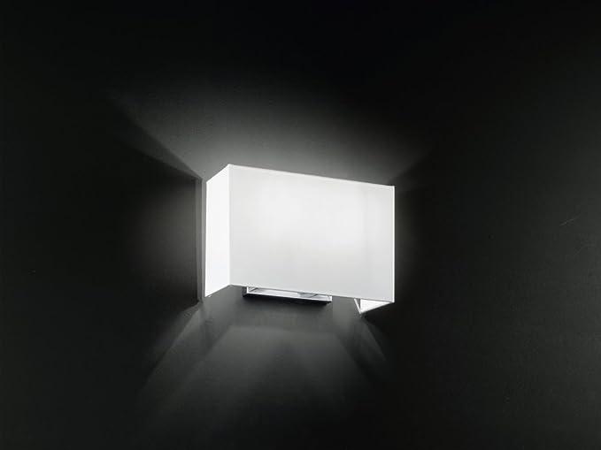 Applique da parete 5881 cr lampada da muro in cromo spazzolato e