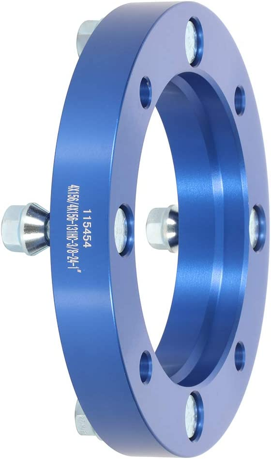SCITOO 4Lugs Wheel Spacers 1 25mm 4x156mm to 4x156mm 2x fit for 2001-2003 Kawasaki Lakota 300 KEF300B Sport 3//8 x24 Studs