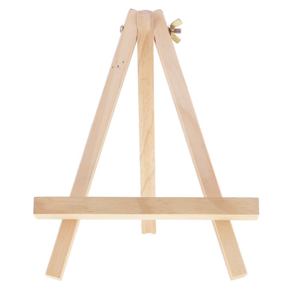 Jili Online Unpainted Natural Tripod Wooden Easel Artwork Display Picture Frame Holder