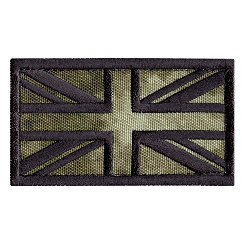 (LEGEEON A-TACS AU Arid Great Britain UK Union Jack Flag Morale Tactical Badge Army Embroidery Fastener Patch)