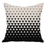 WM & MW Cushion Cover,Fashion Letter Geometry Square Pillow Cover Cushion Case Toss Pillowcase (C)