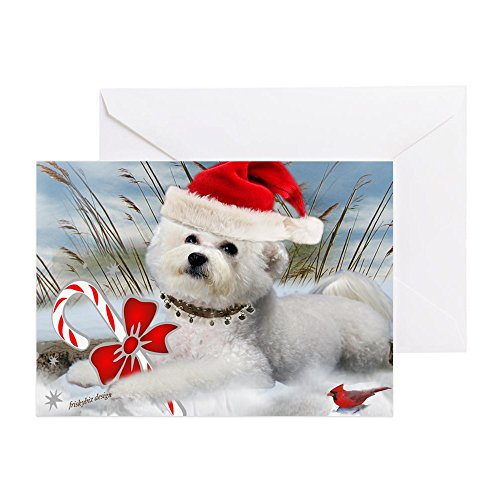 CafePress - Bichon Frise Christmas Day - Greeting Card, Note Card, Birthday Card, Blank Inside - Christmas Cards Frise Bichon