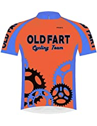 Primal Wear Old Fart Cycling Team Sprockets Jersey Mens Short Sleeve Bright Orange