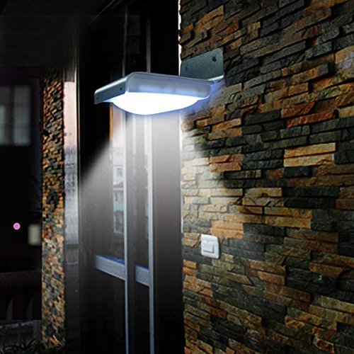 16 LED Lighting Solar Powered Motion Sensor Light Cool White Wireless Security Wall Mounted Waterproof Lamp for Garden Patio Home Decorative by Generic (Image #2)