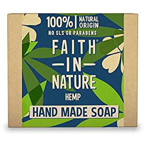 Faith in Nature Organic Hemp and Green Tea Soap 100g Pack of 3