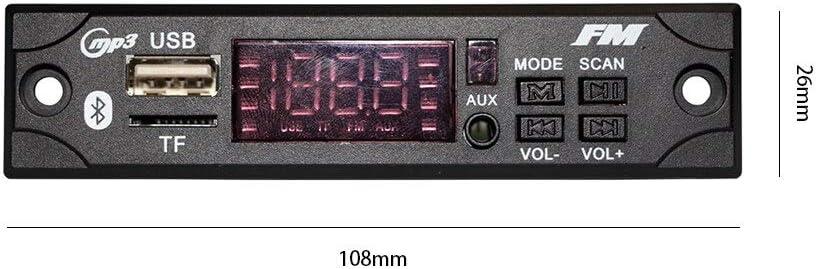 SD BA19 Lautsprecher MP3-Decodierungsmodul 12V Audiomodul USB MMC