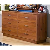 6 Drawer Double Dresser - This Logik Contemporary Bedroom Furniture Is a Perfect Storage Solution - Great Addition in Your Childs Bedroom - Comes with Spacious Media Compartment - 5 Years Warranty!