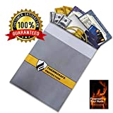 top peak bike stand - Fireproof Document Storage Bag by DocuBank - 15x11 Double Layer Heat & Water Resistant Protection | FIRE SAFETY EBOOK INCLUDED | Money, Firearms, Personal Items, Valuables, Lipo Battery
