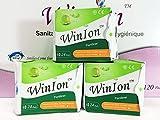 3 Packs (72 Pads) Winalite Winion Pantiliner with Anion Strip