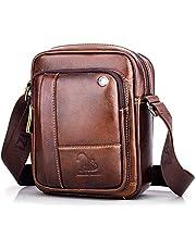 BAIGIO Schoudertas heren lederen schoudertas heren tas vintage voor werk reizen dagelijks leven