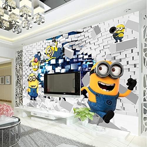 Amazon Com 3d Minions Photo Wallpaper Cartoon Wall Mural Silk Wallpaper Boys Bedroom Kid Room Decor Art Home Decoration Funny 280x200cm Kitchen Dining