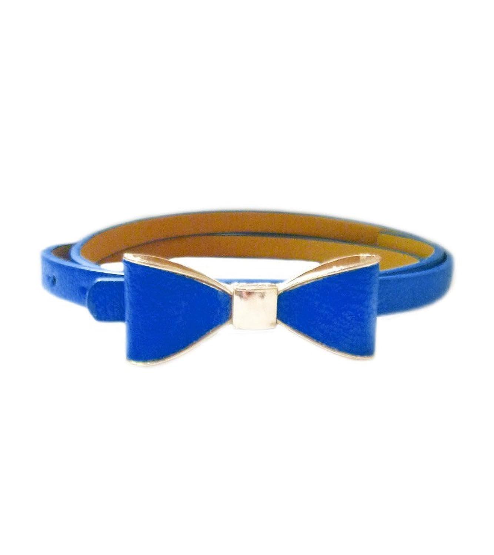 TdZ Fashion Skinny Belt - Ladies Golden Bow