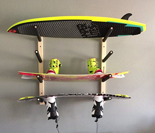 (Wakeboard Wall Rack Mount -- Holds 4 Boards)