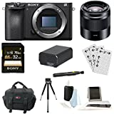 Sony a6500 Mirrorless Camera w/ E 50mm Lens + Sony 32GB Memory Card Bundle