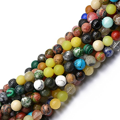 Assorted Gemstone Beads (MagiDeal 8mm Jewelry Making Stone Beads Strand 15