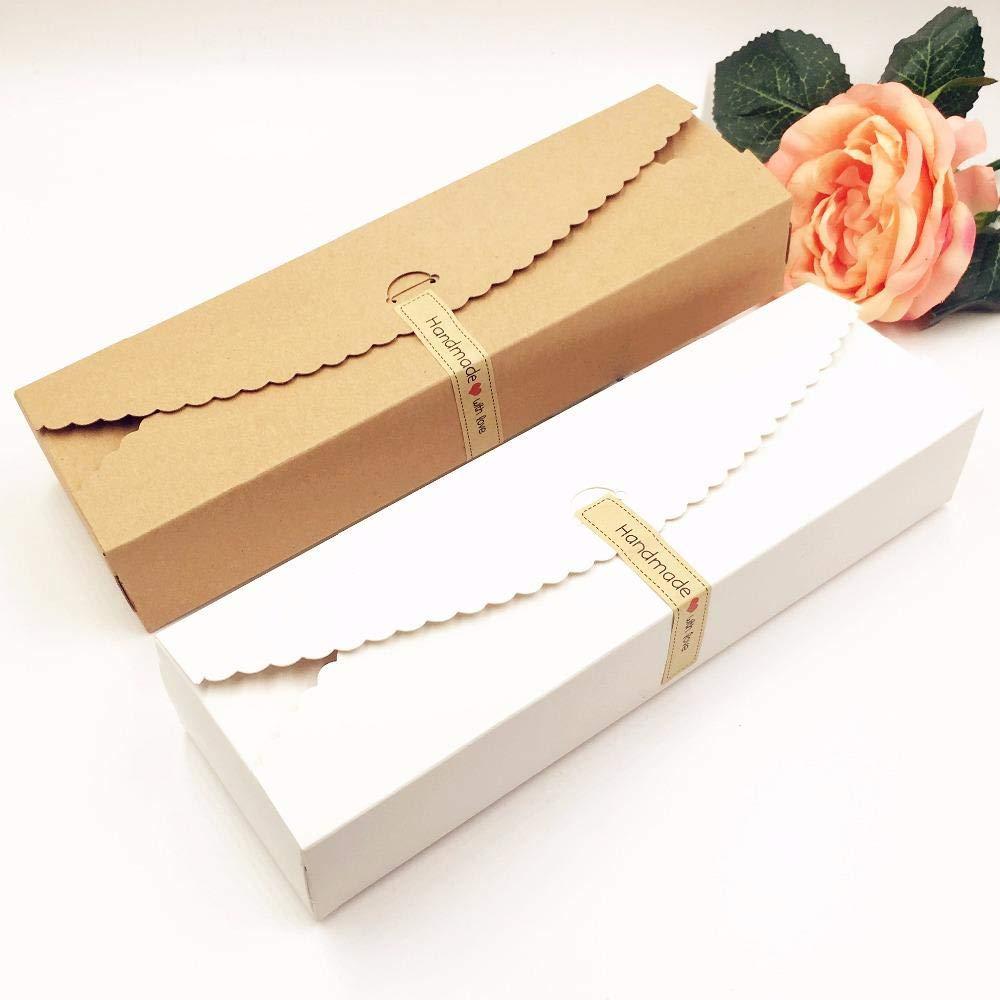 4cm,Marrone lot regalo di Kraft scatole di carta contenitore di imballaggio della caramella//cioccolato artigianale di stoccaggio vuoto di nozze fai da te torta scatole 23 20pcs 7