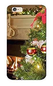 KxKnLqS2059RVJHJ Christmas Fireplace Fire Holiday Festive Decorations Fashion Tpu 6 Case Cover For Iphone