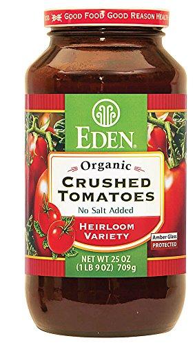 Eden Foods Organic Crushed Tomatoes Heirloom Variety No Salt Added 25 oz (1LB 9 oz) 709g ()