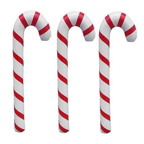 Toyvian - Bastones de Navidad hinchables, en espiral, para ...