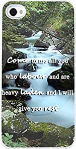 4S Case Christian Quotes, Apple Iphone 4 case Bible Verses Come To Me All You Who Labour And Are Heavy Laden And I Will Give You Rest