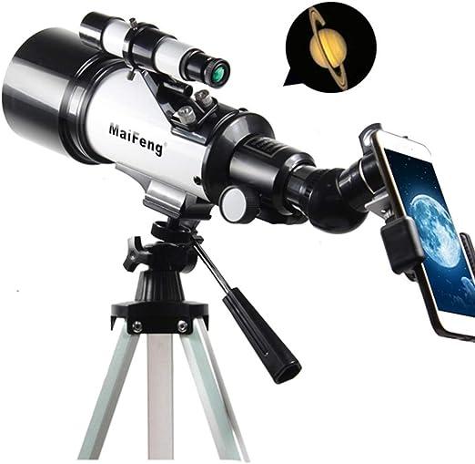 LEDU Telescopio, 120X monocular Espacio de Entrada Exterior Profesional telescopio y trípode se Puede conectar a teléfonos móviles, Adecuado para los niños Principiantes: Amazon.es: Hogar